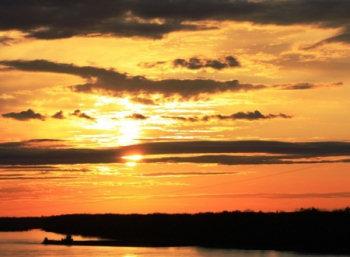 Mississippi River at Sunset